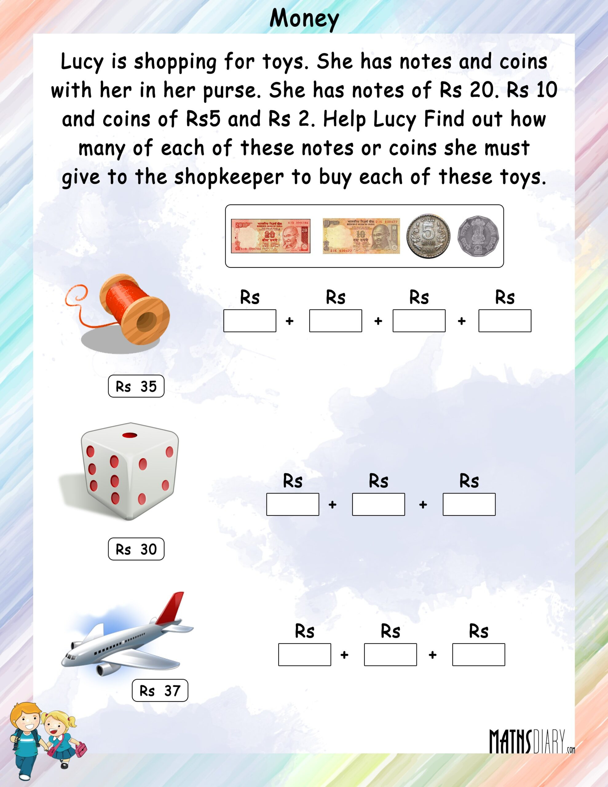 3rd Grade Money Worksheets Numeracy for Kindergarten Greater Than Math Worksheets Money