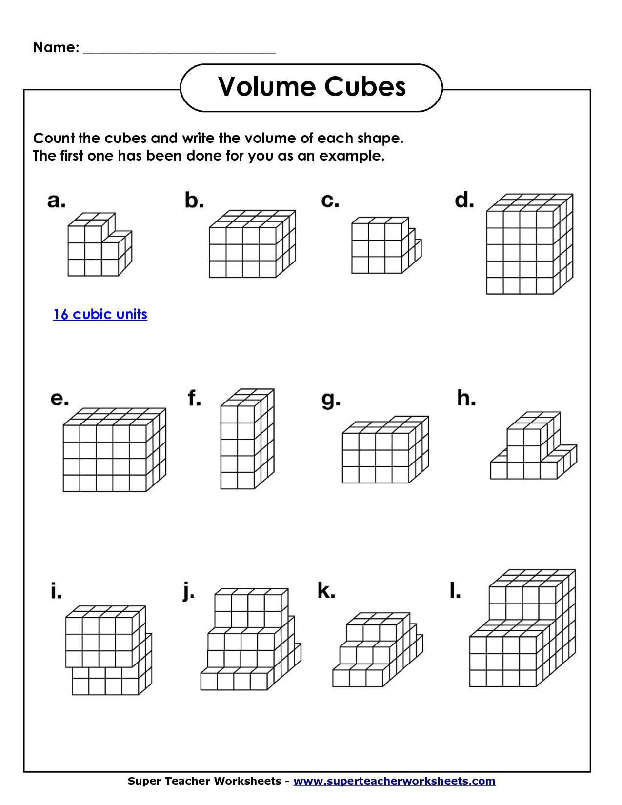 3rd Grade Volume Worksheets Image From