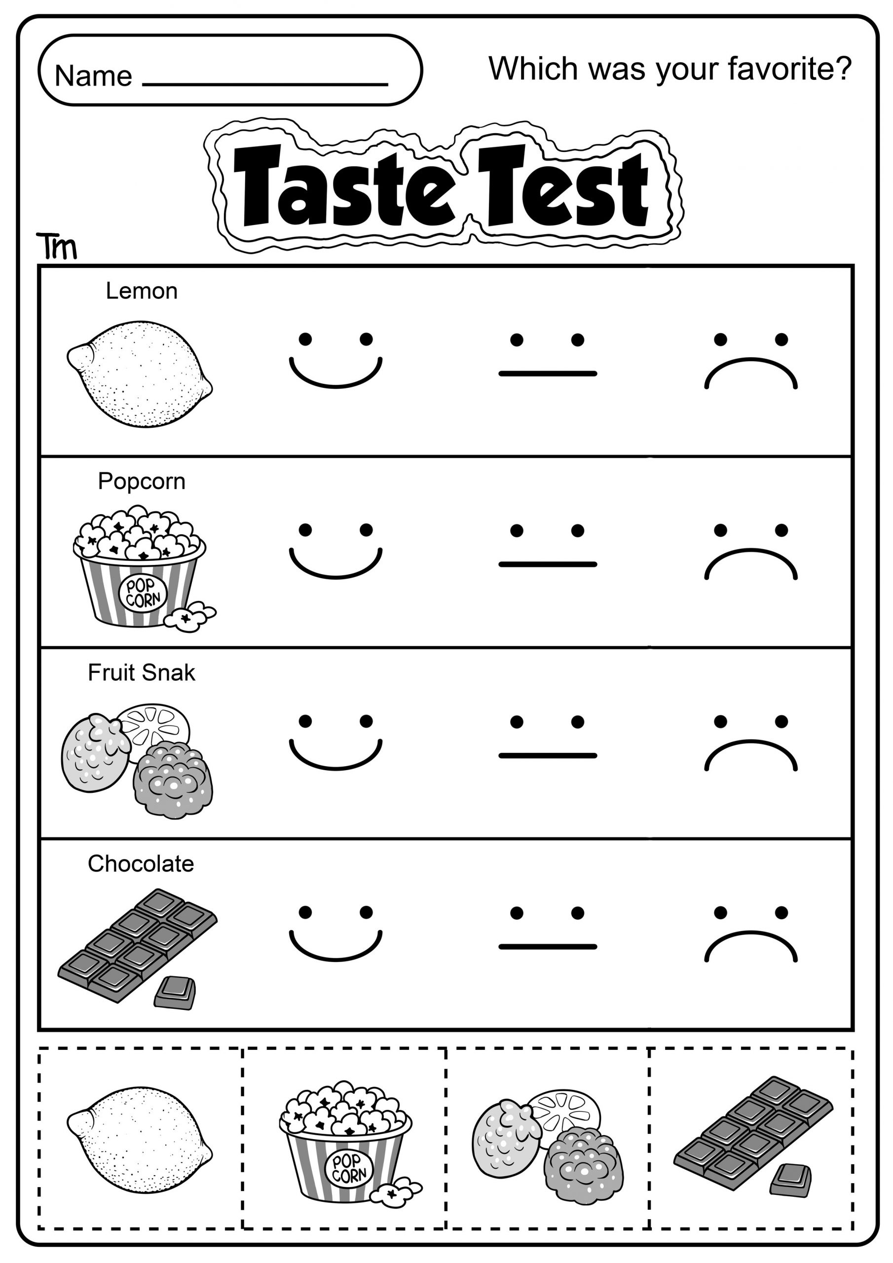 5 Senses Worksheet Preschool the Five Senses Taste Test Teachersmag