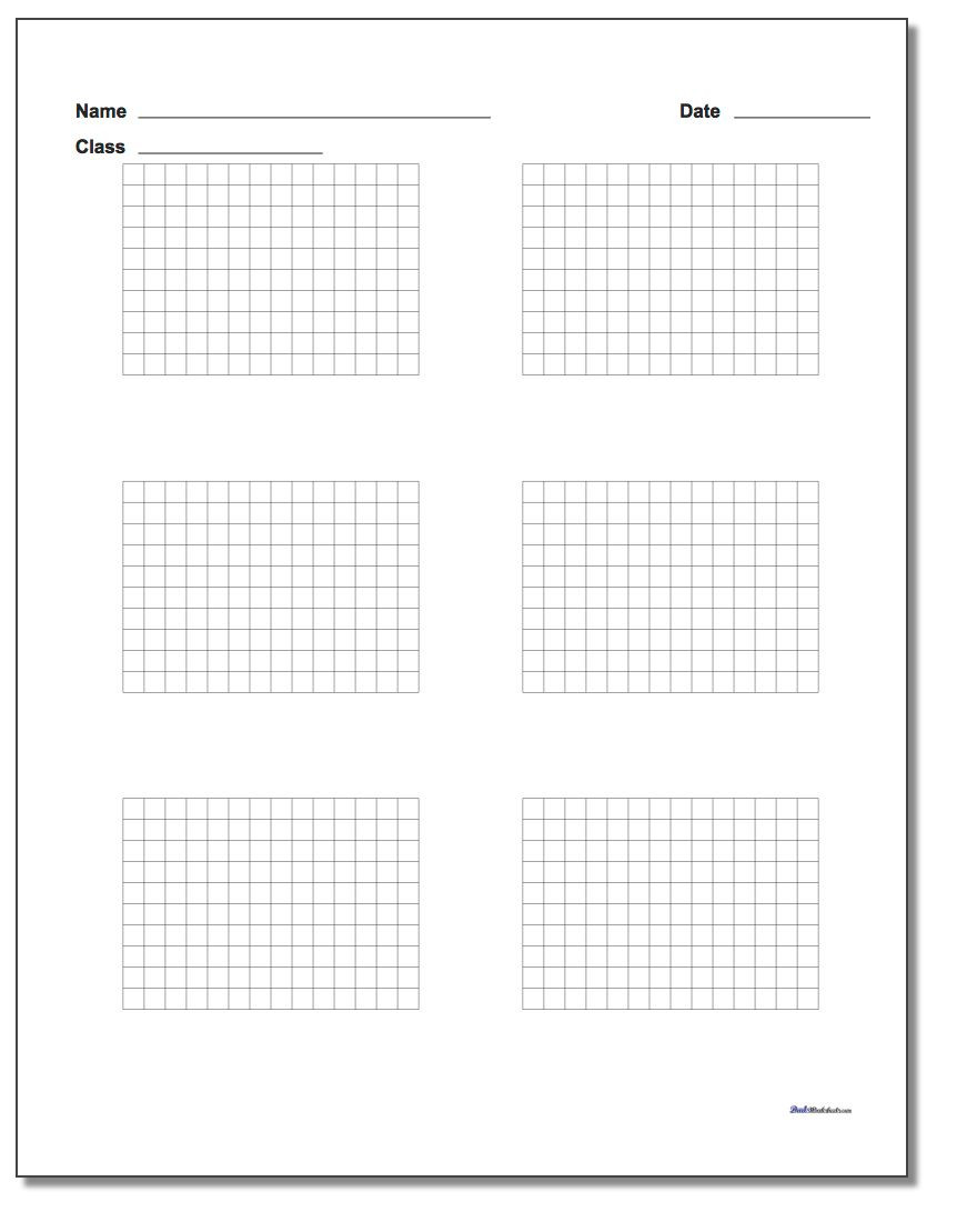5th Grade Coordinate Grid Worksheets Printable Graph Paper with Name Block