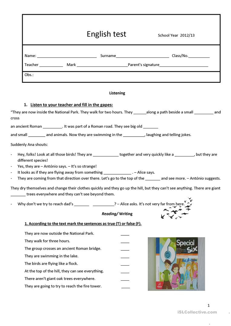 6th Grade Pronoun Worksheets Test 6th Grade English Esl Worksheets for Distance