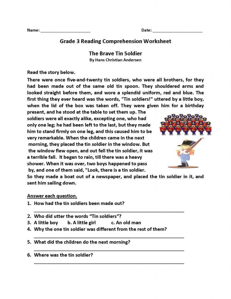 6th Grade Reading Worksheets Reading Prehension Worksheets