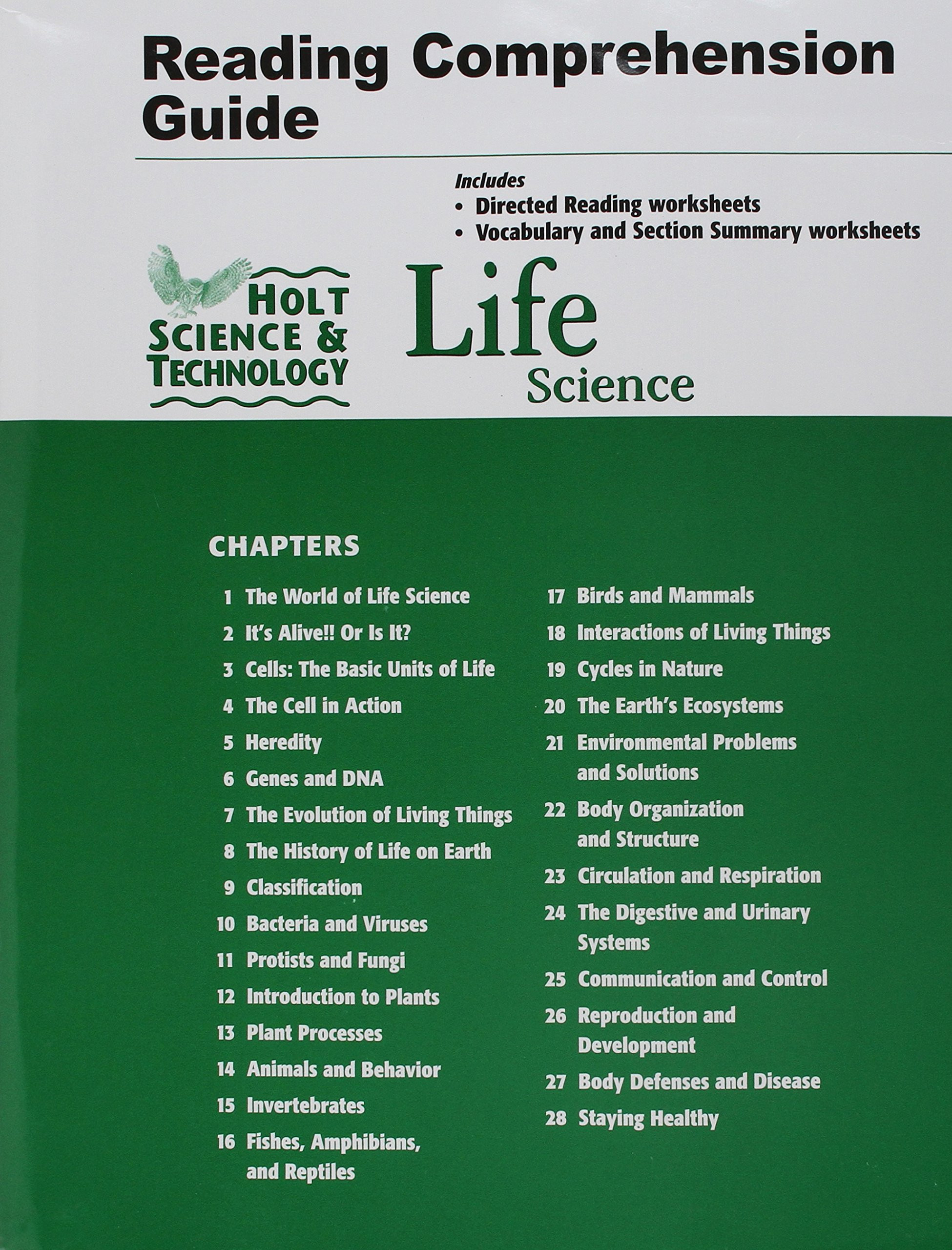 7th Grade Life Science Worksheets Science Technology Life Reading and Grade Worksheets