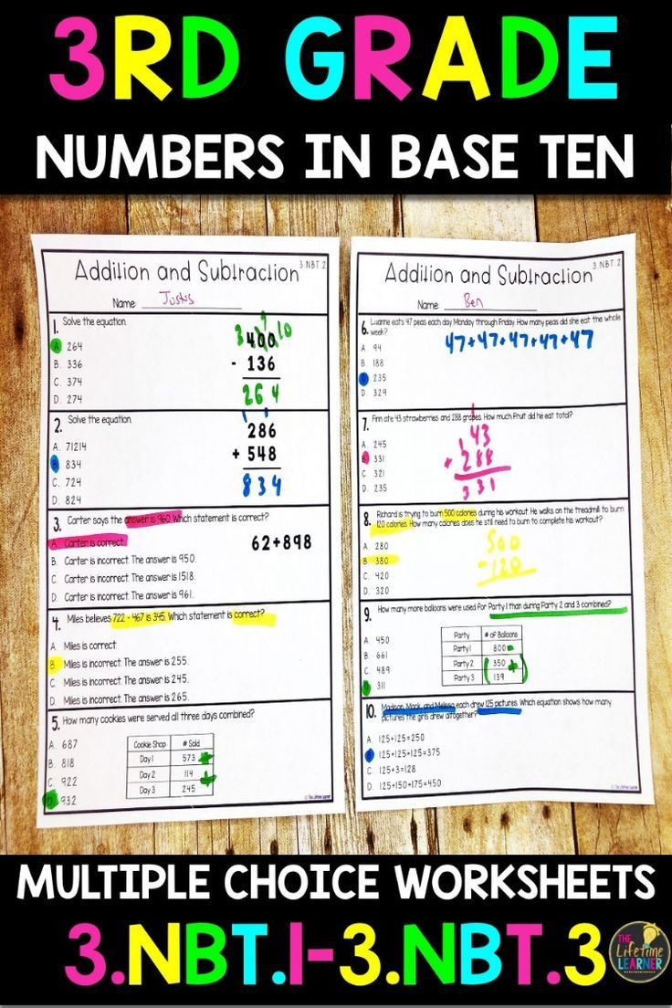 7th Grade Math Enrichment Worksheets these 32 Numbers Base In Ten Worksheets are Made for 3rd