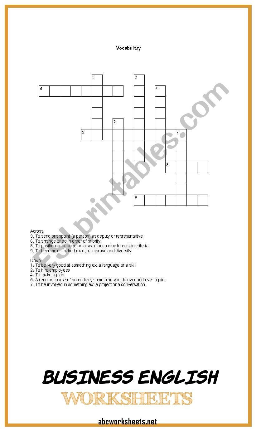 8th Grade Math Vocabulary Crossword Pin On English Worksheets