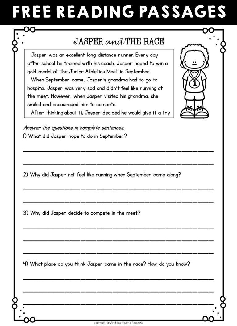 8th Grade Reading Worksheets Worksheet Free Readingehension Worksheets Second Grade