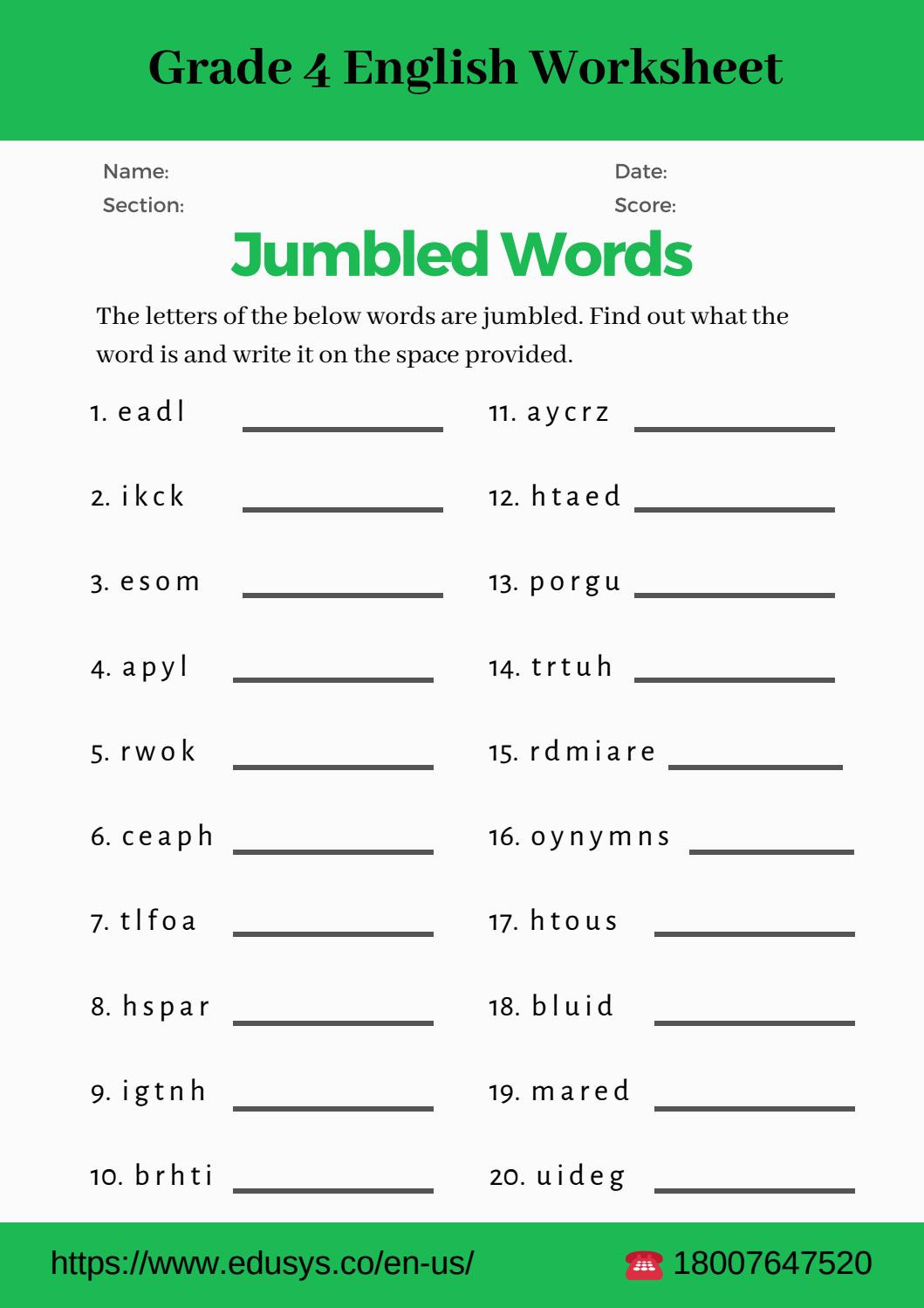 8th Grade Vocabulary Worksheets Pdf 4th Grade English Vocabulary Worksheet Pdf by Nithya issuu