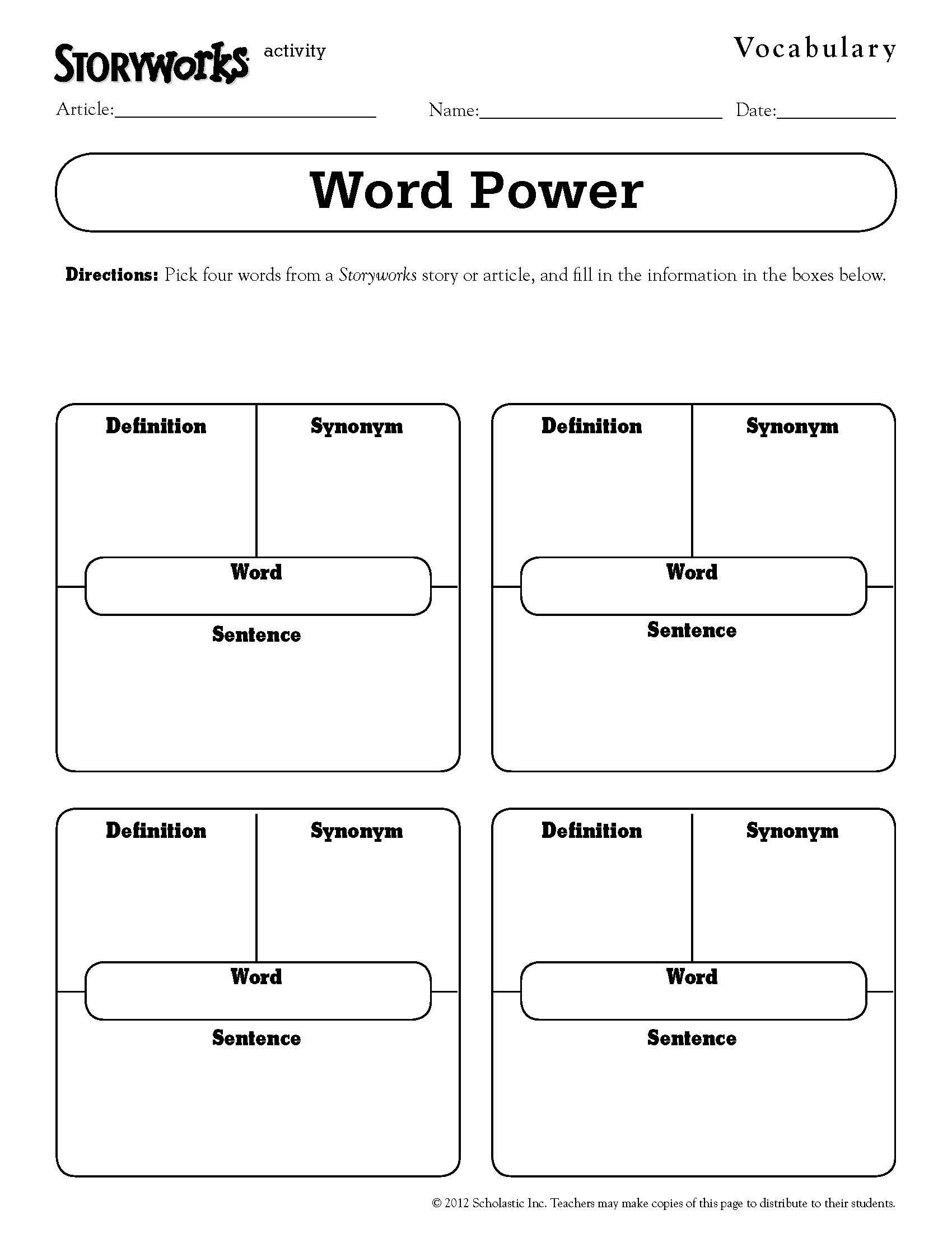 8th Grade Vocabulary Worksheets Quick and Easy Vocabulary Activity Use It with Any Text