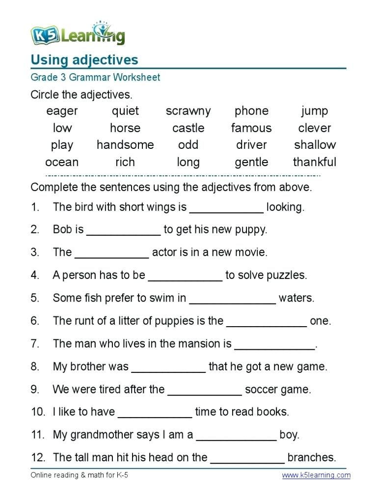 9th Grade Grammar Worksheets Worksheet Printablenglish Worksheets Awesome Ideas