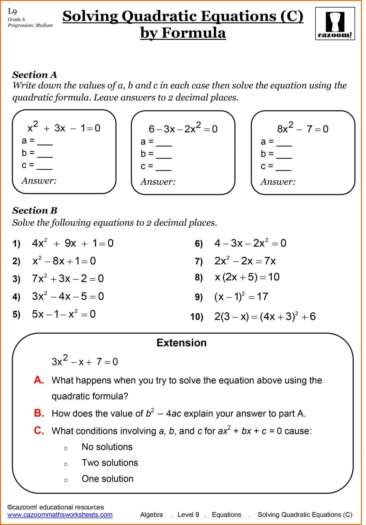 9th Grade Algebra Equations Worksheets Tessshebaylo