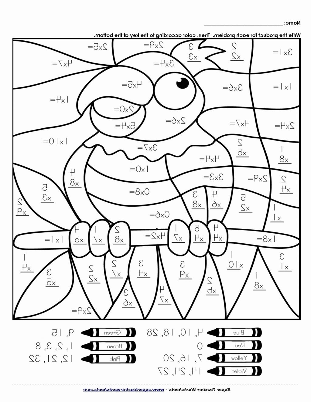 Addition Math Coloring Worksheets Math Worksheet Matht Coloring Page Pages Designts 4th