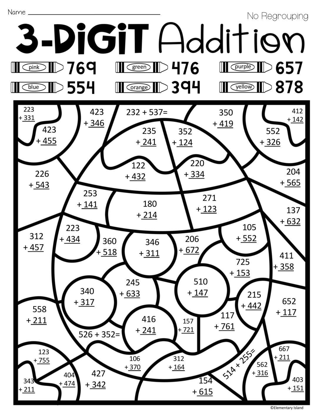 Addition Math Coloring Worksheets Pin On Educational Crap