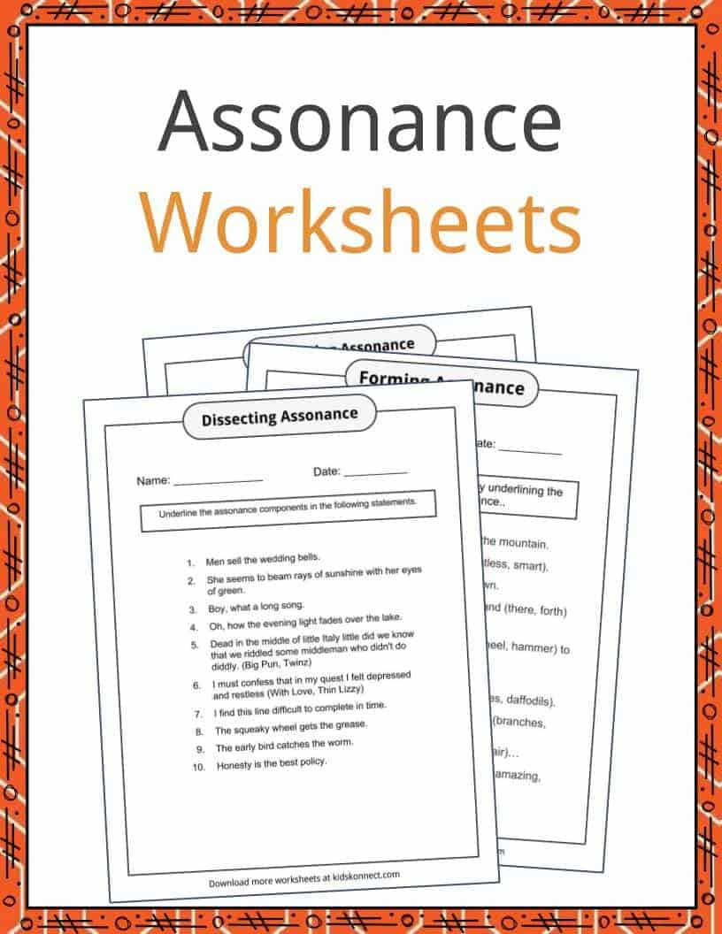 Alliteration Worksheets for Middle School assonance Examples Definition and Worksheets