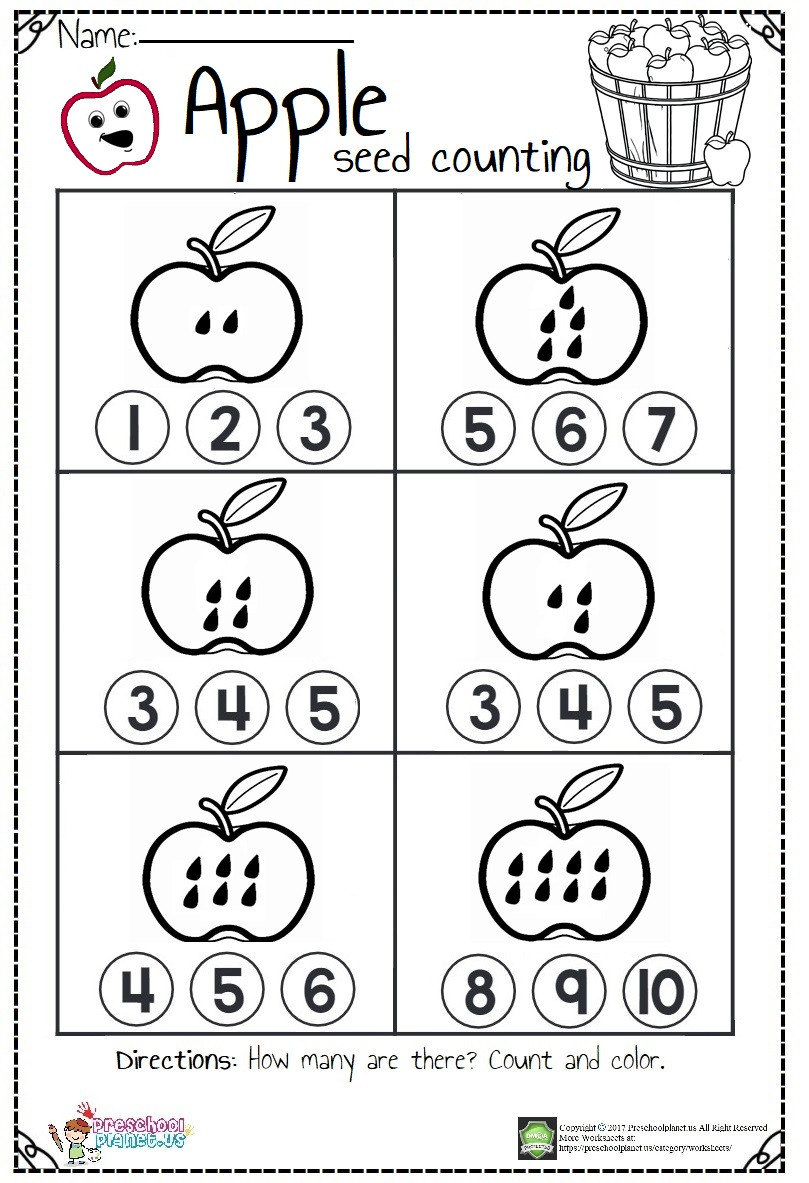 Apple Worksheets Preschool Fireman Worksheet for Kids – Preschoolplanet