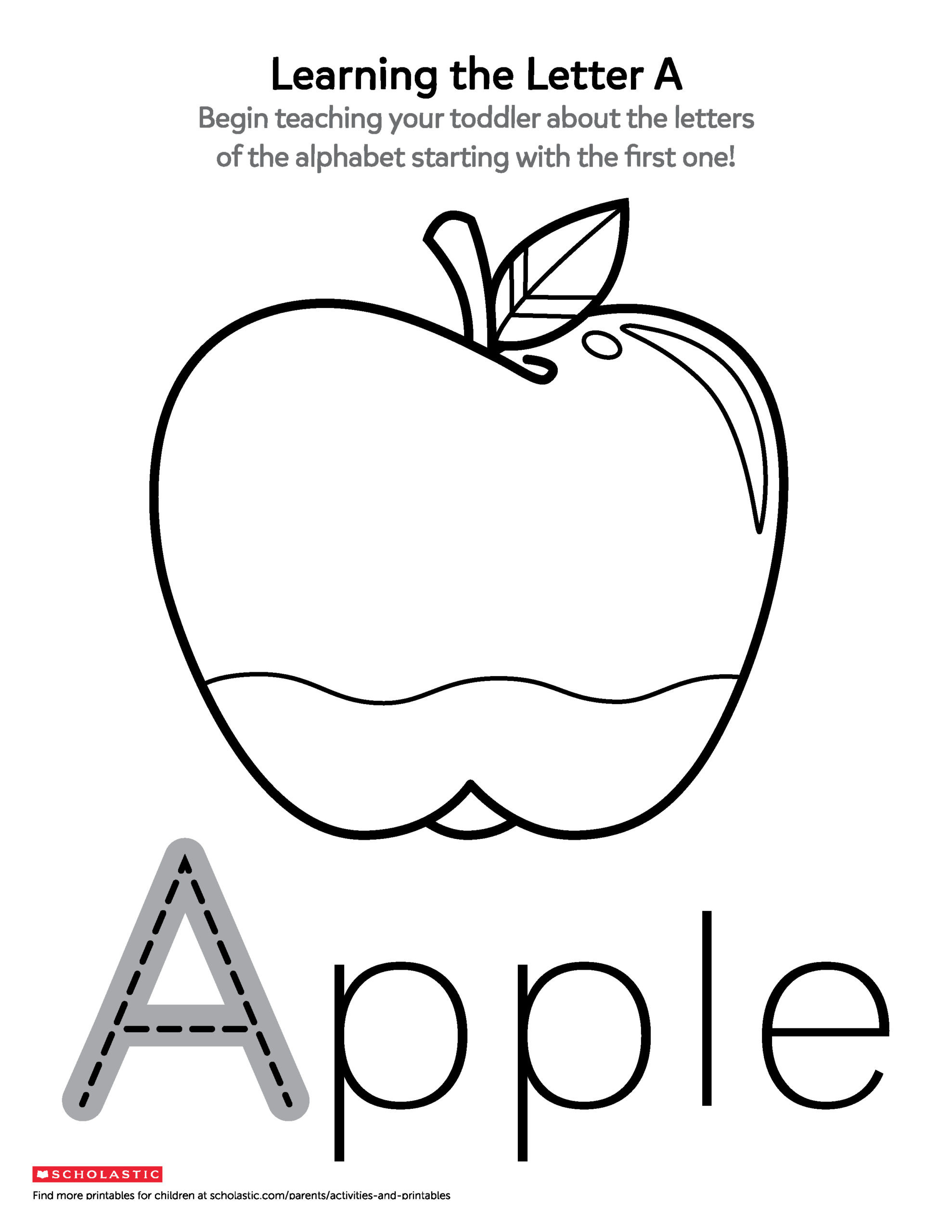 Apple Worksheets Preschool Printables for Ages Scholastic Parents toddler Worksheets