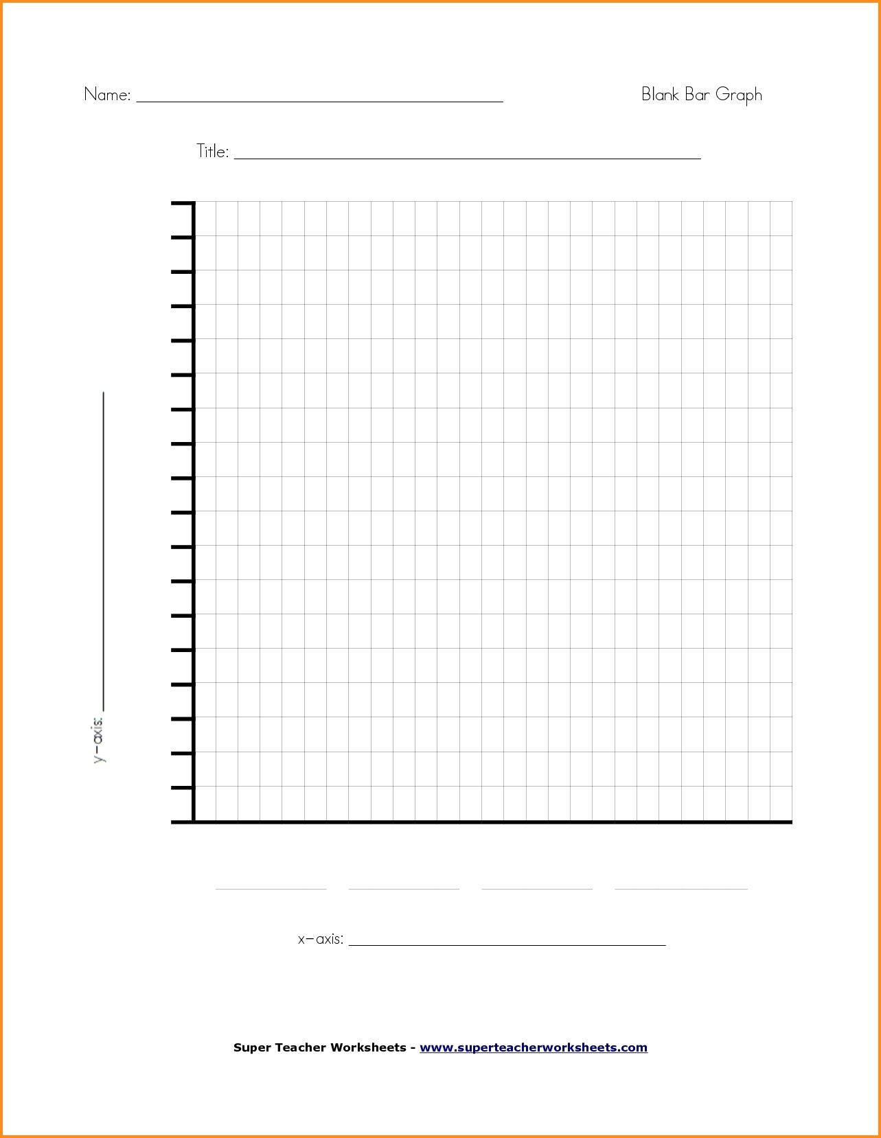 Bar Graph Worksheets Middle School Blank Chart Template for Teachers