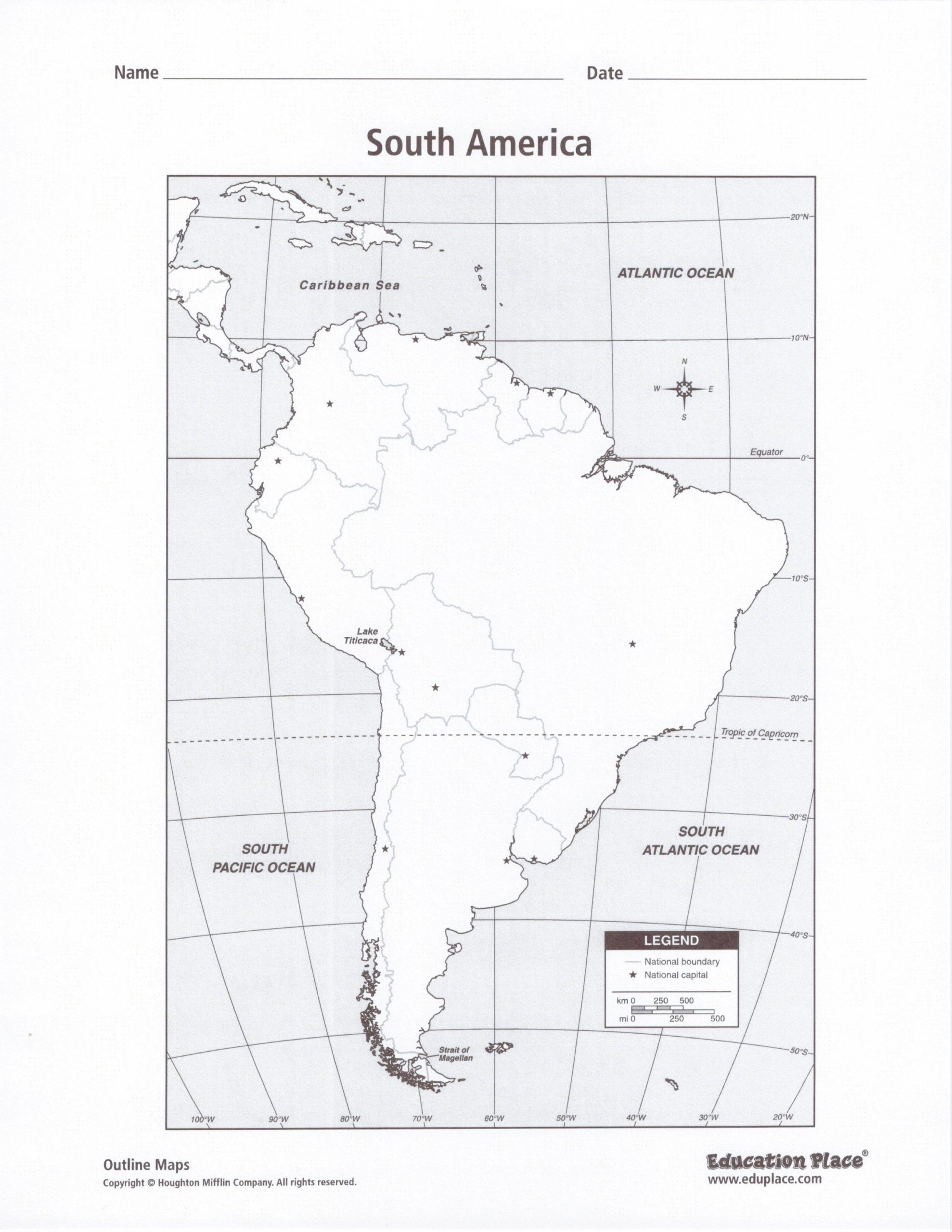 Blank Us Map Quiz Printable We Did In today Continents World Map Worksheets south Blank