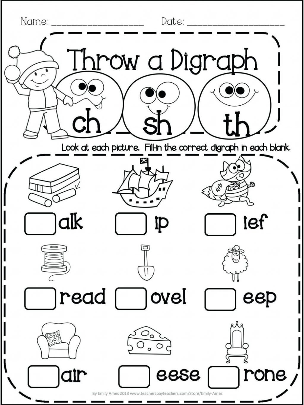 worksheet Awesome 1st Grade Phonicsksheets Image Ideas