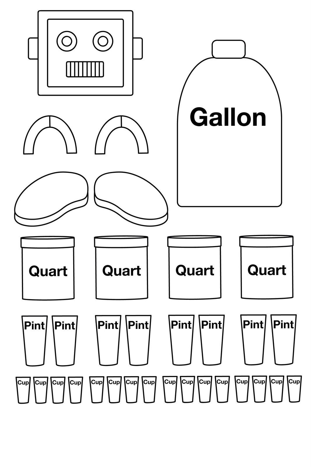 Capacity Worksheets 3rd Grade Other Graphical Works