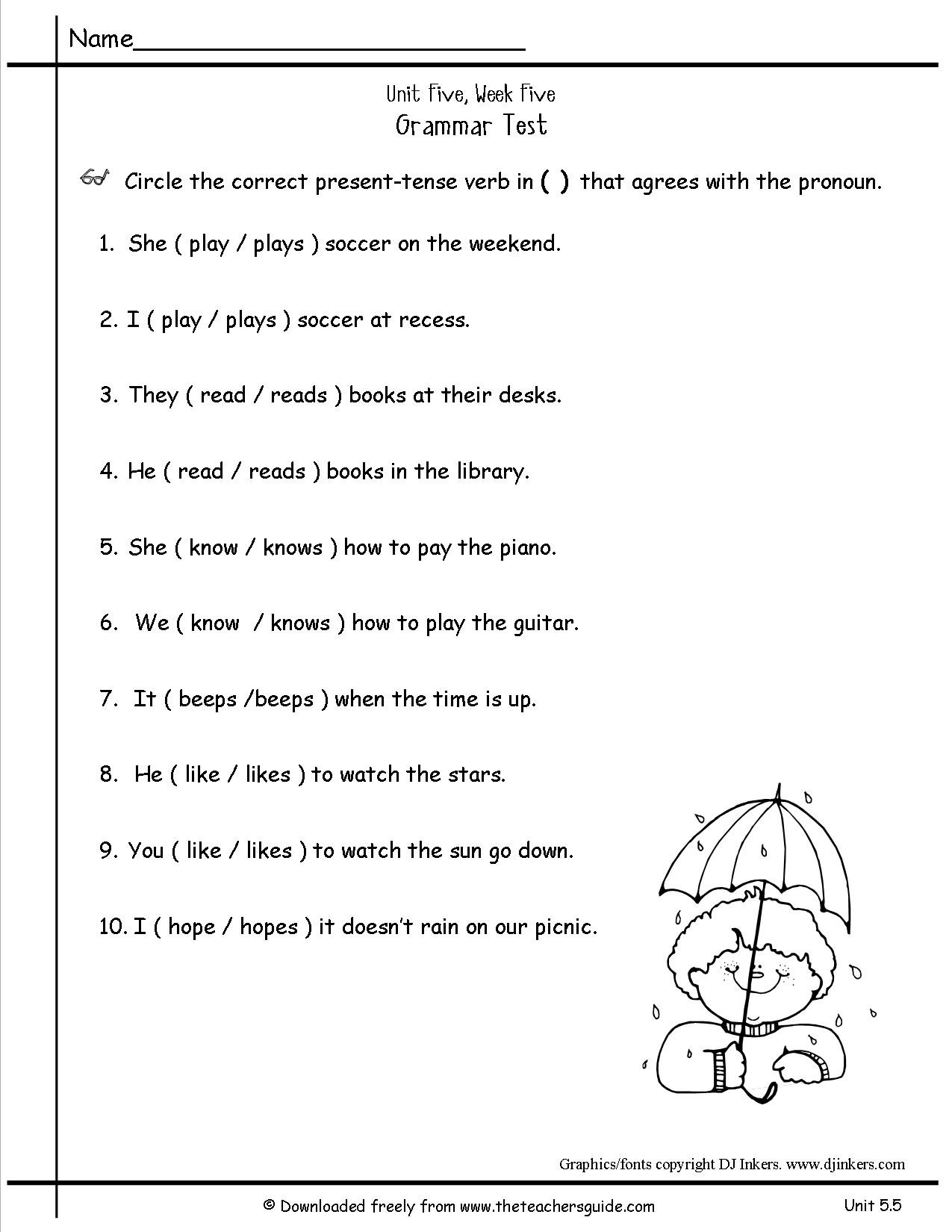 Capitalization Worksheets for 2nd Grade Free Pronoun Worksheet for 2nd Grade
