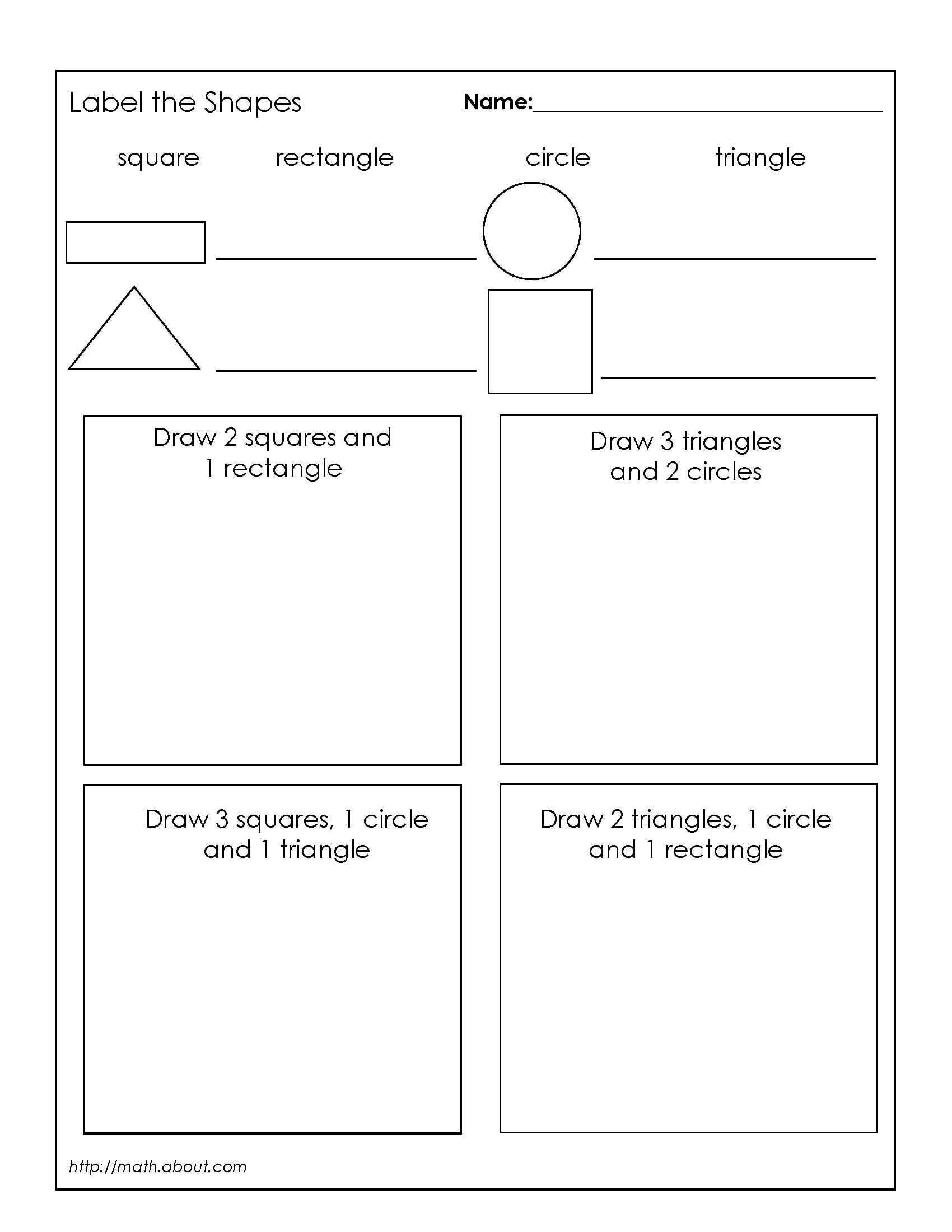 Categorizing Worksheets for 1st Grade Shape Hunt Worksheet