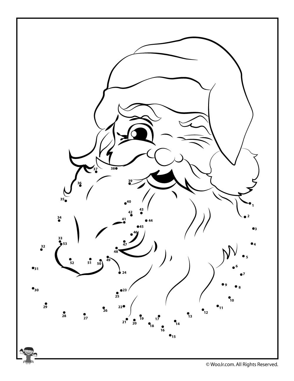 Christmas Connect the Dots Printable Santa Claus Connect the Dots Printable