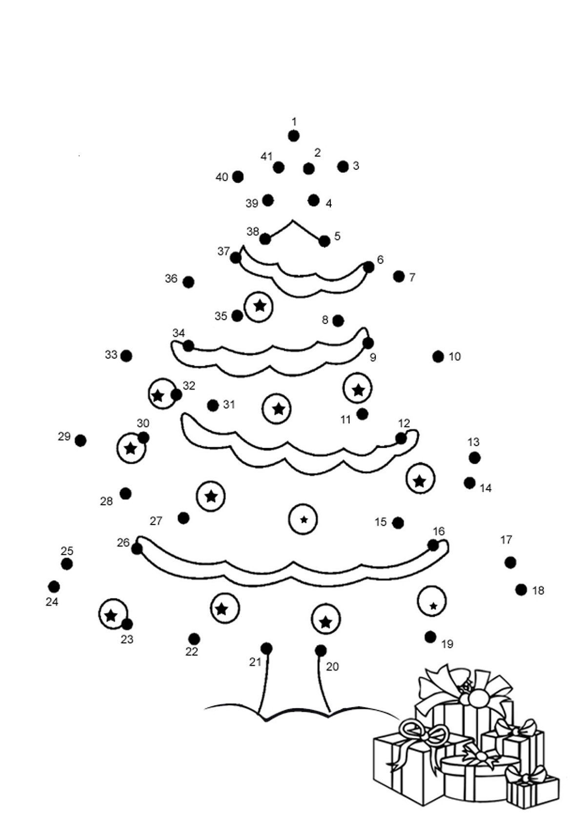 Christmas Connect the Dots Printables Dot to Dot for Kids In 2020