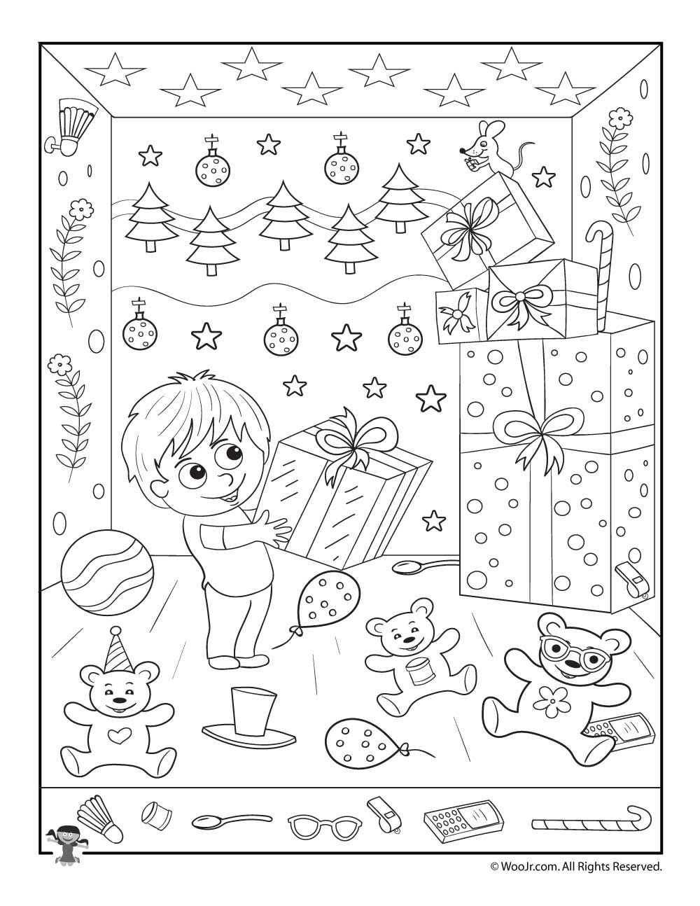 Christmas Hidden Picture Puzzles Printable Christmas Gifts Hidden Picture Printable Activity
