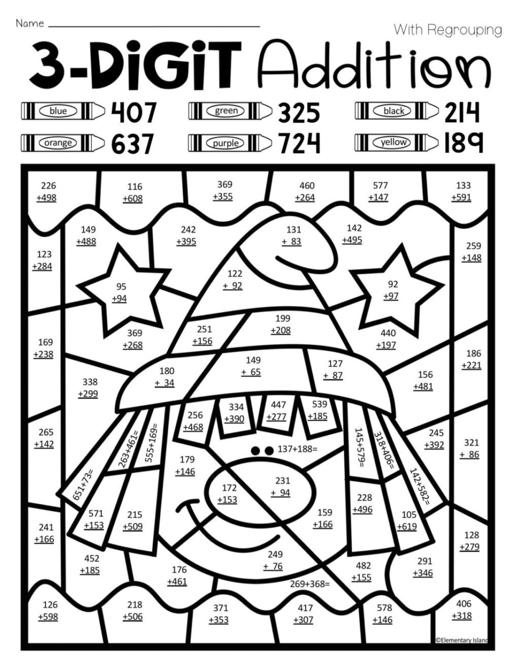 Christmas Hidden Picture Puzzles Printable Worksheet Coloring Pages Coloringes Color Math for Kids