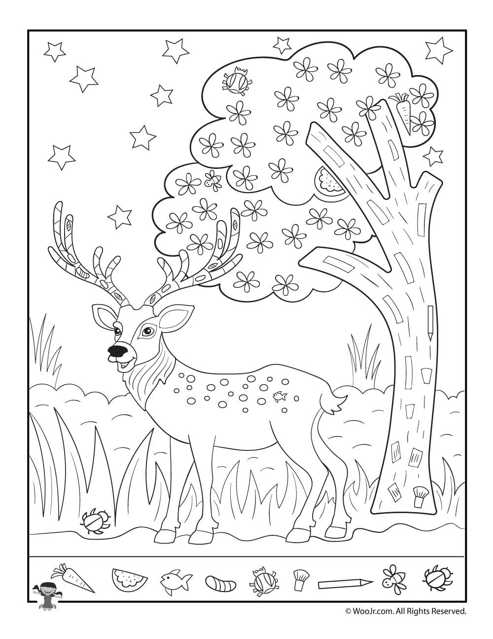 Christmas Hidden Pictures Printable Christmas Reindeer Find the Item Activity