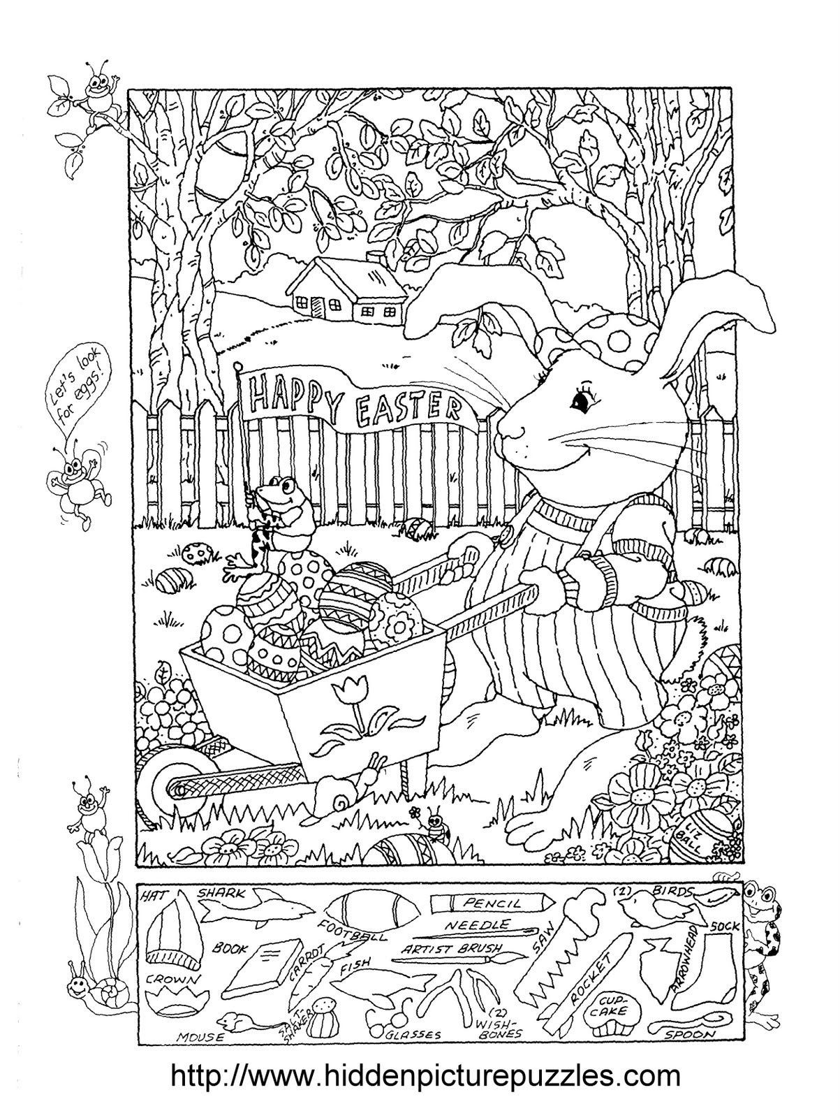 Christmas Hidden Pictures Printable Easter Hidden Puzzle and Coloring Worksheets Mixed