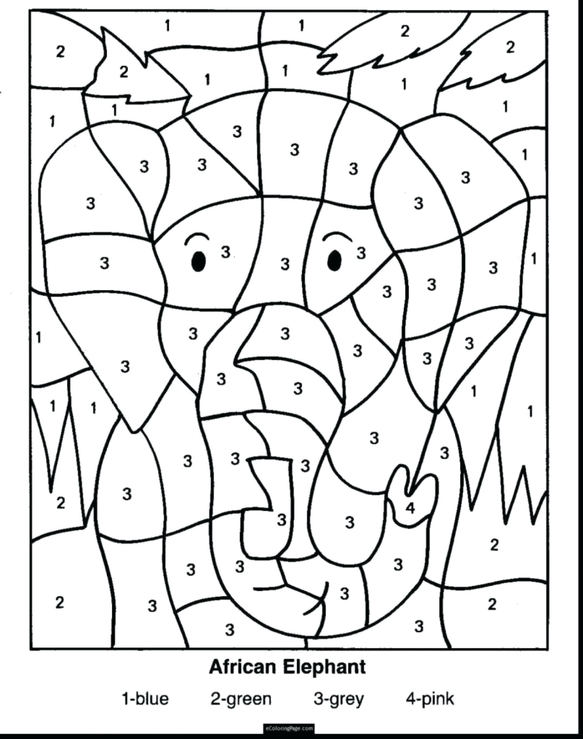 Coloring Pages Free Second Grade Math Third Problems line