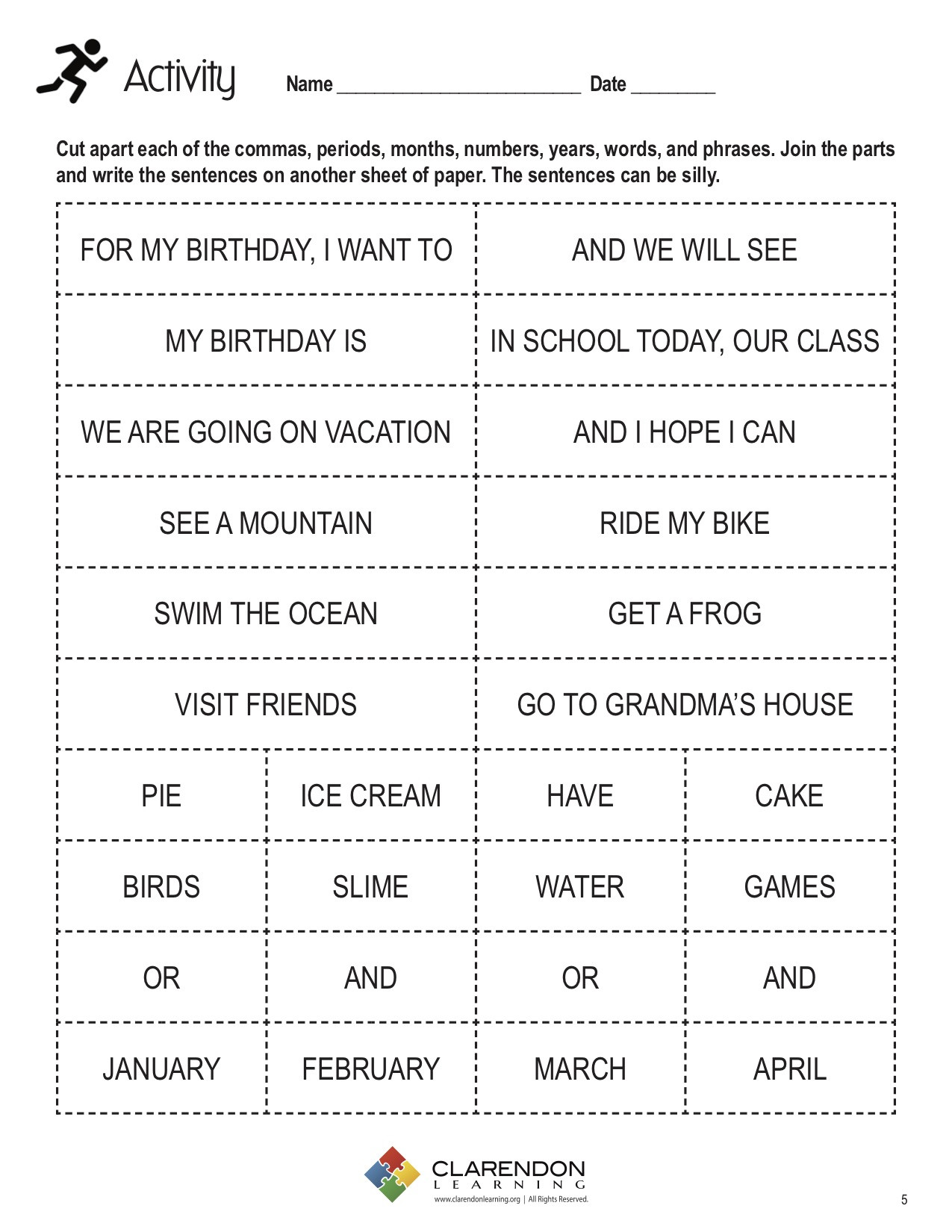 Comma Worksheets 2nd Grade Mas In Dates and Series Lesson Plan