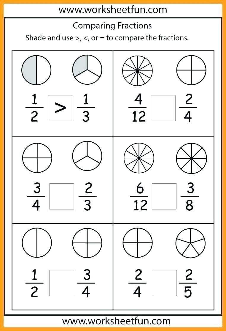 Comparing Fractions Worksheet 3rd Grade Pin On 1st Grade Worksheets & Free Printables