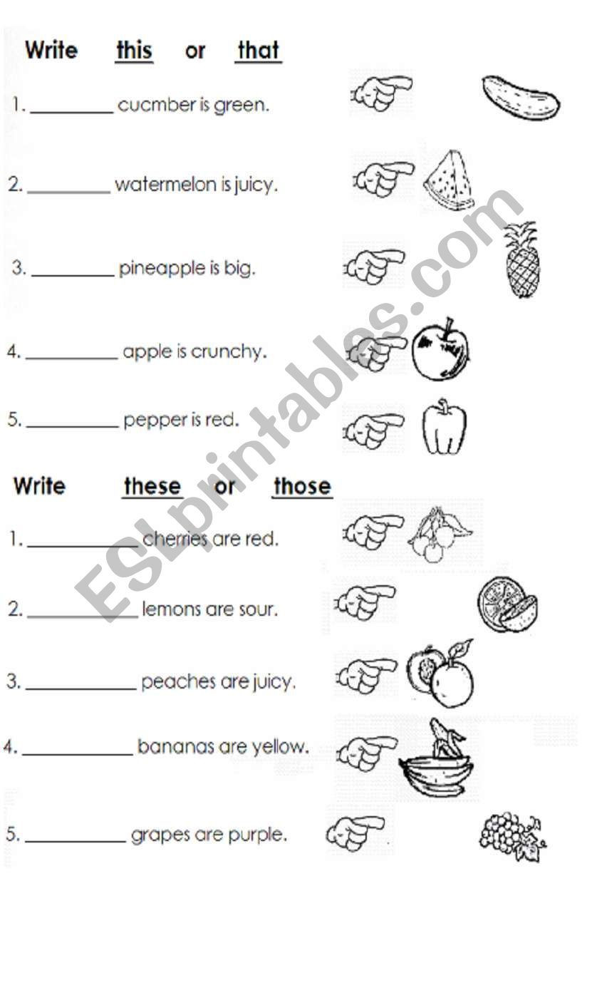 Complete Sentence Worksheets 1st Grade Children Practice and Plete Sentences with This that