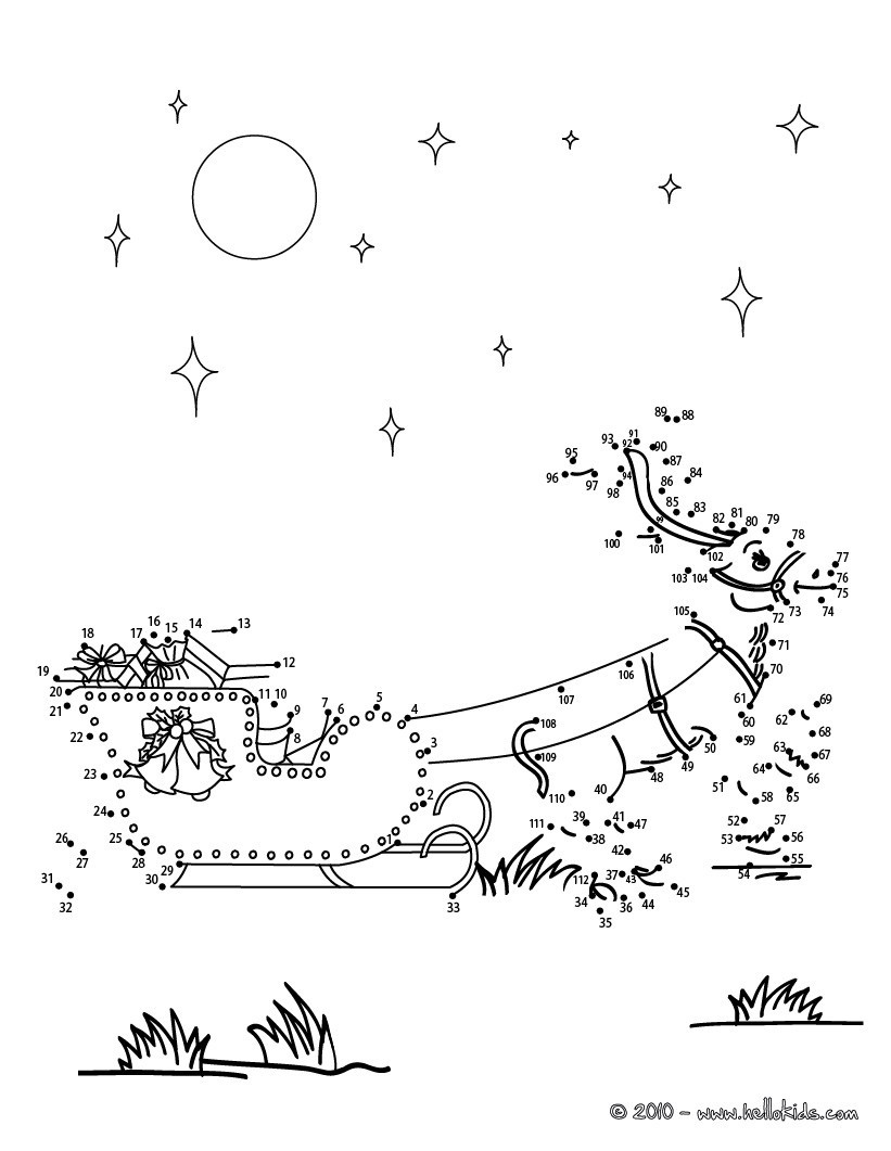 Connect the Dots Christmas Printables Christmas Dot to Dot 24 Free Dot to Dot Printable