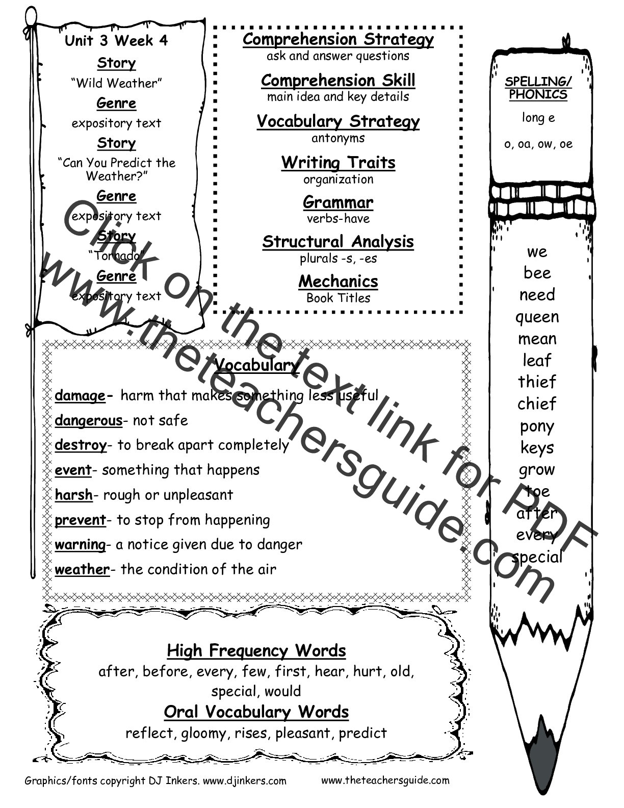 Context Clues Worksheets Second Grade Wonders Second Grade Unit Three Week Four Printouts