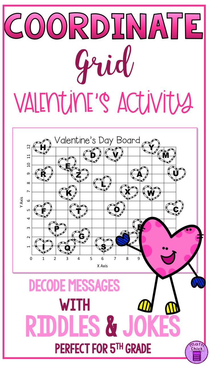 Coordinate Grid Pictures 5th Grade Valentine S Day Coordinate Grid Decode the Message Teks 5 8a