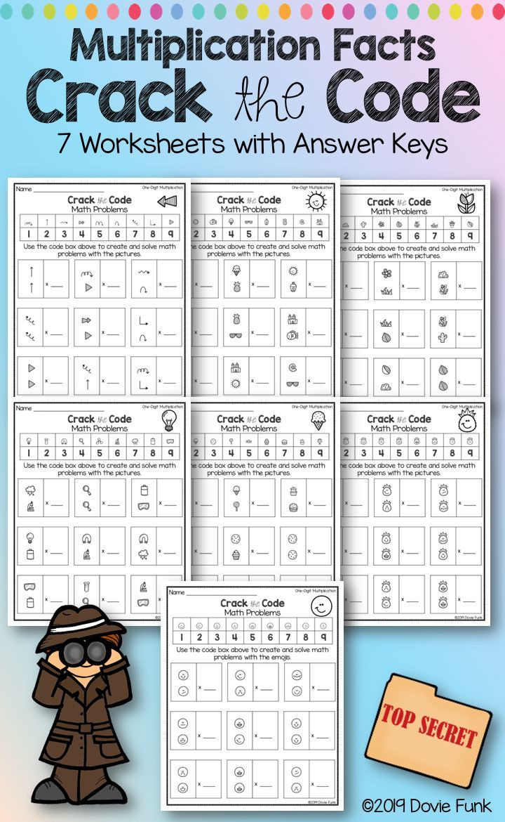Crack the Code Math Worksheets Pin On Grades 3 5