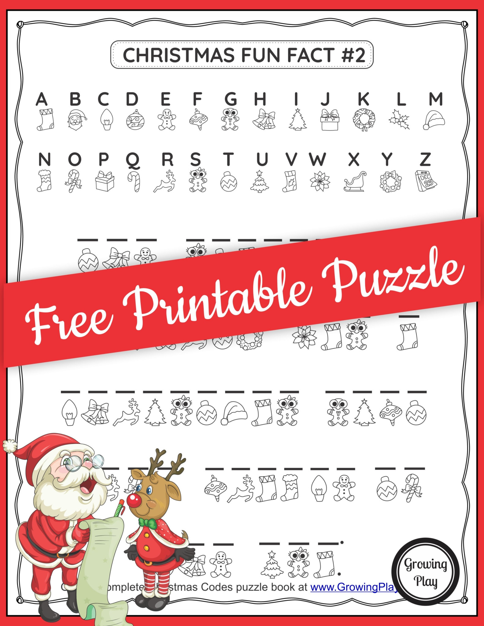 Crack the Code Worksheets Printable Christmas Secret Code Worksheet Free Printable Growing Play