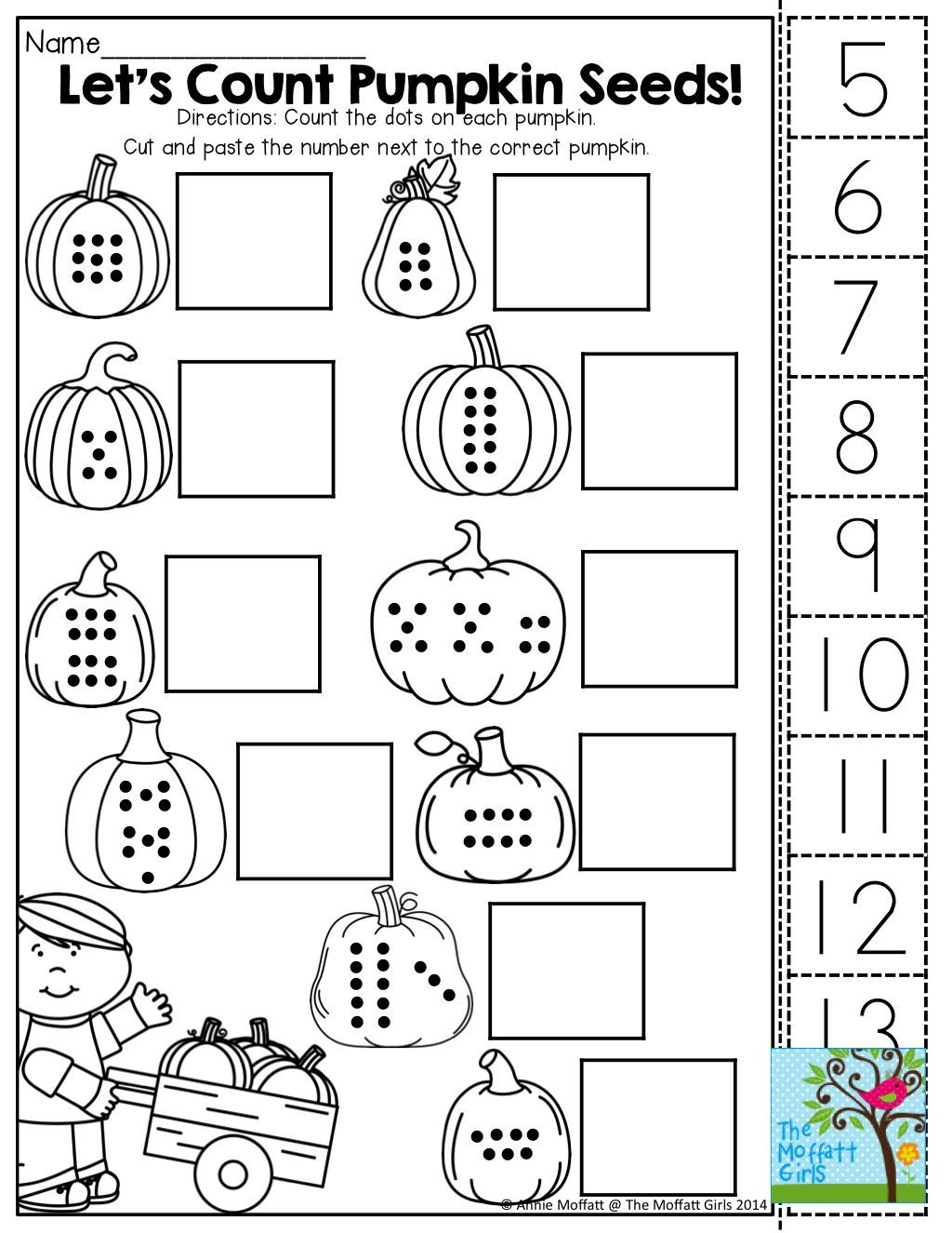 Cut and Paste Math Worksheets October Fun Filled Learning Resources