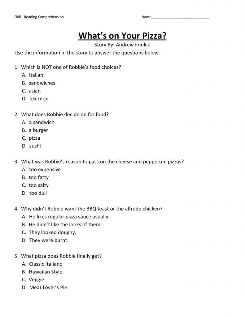 Dialogue Worksheets 4th Grade 4th Grade Reading Prehension Worksheets