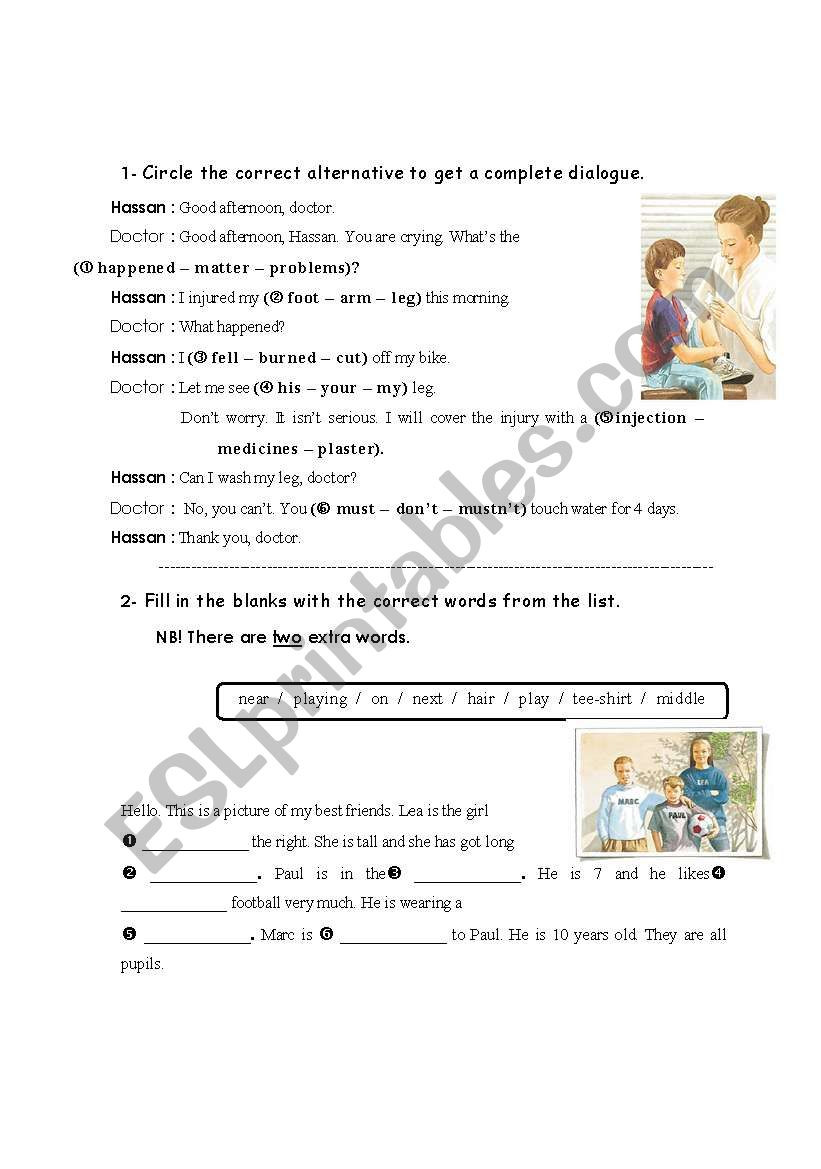 Dialogue Worksheets for Middle School Dialogue and Fill In Esl Worksheet by Fafauu