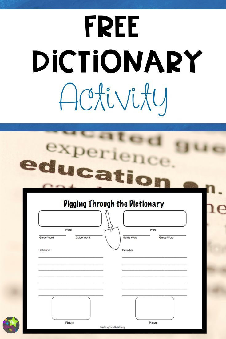 Dictionary Skill Worksheets 3rd Grade Students Can Use This Free Printable Worksheet to Practice