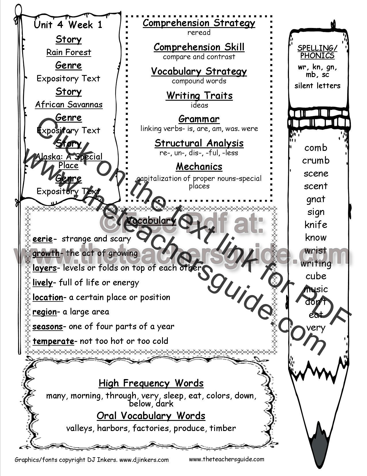 Dictionary Skill Worksheets 3rd Grade Wonders Second Grade Unit Four Week E Printouts