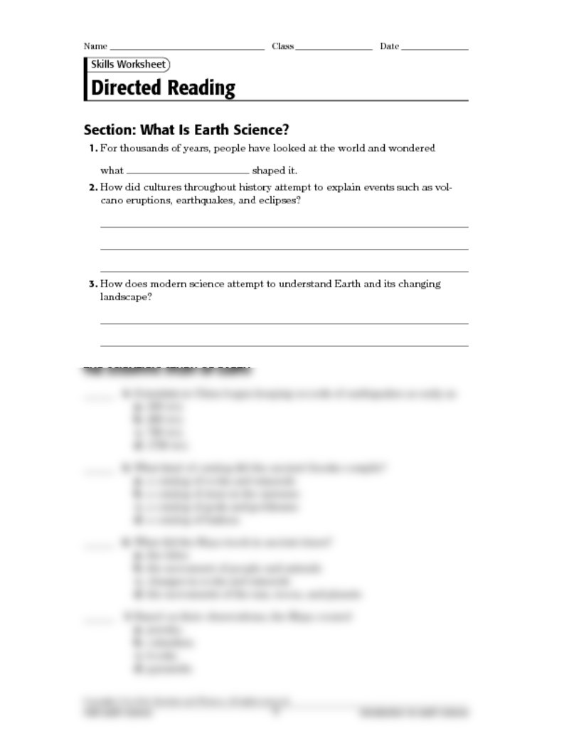 Earthquake Worksheets Middle School Division Method Hire Purchase Worksheets Grade 8 Holt Earth
