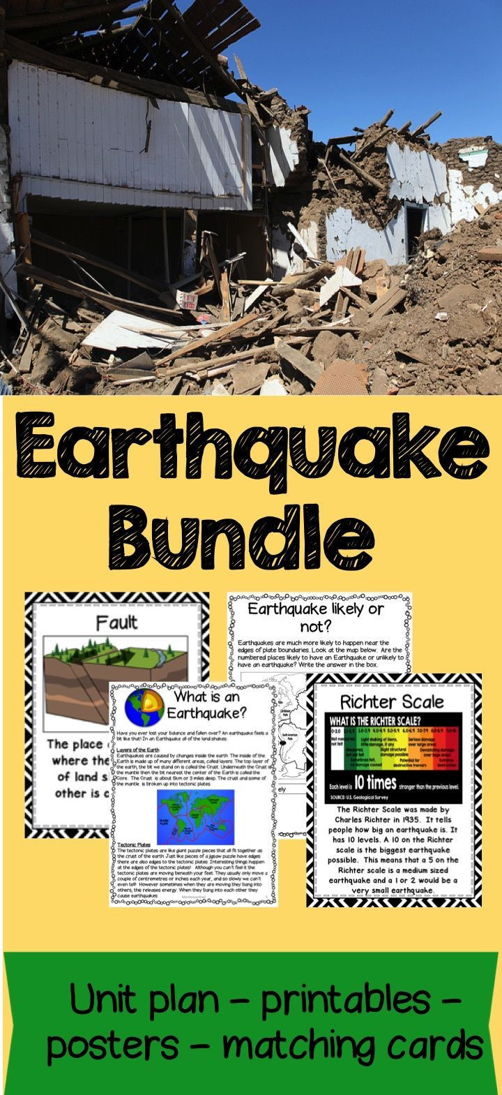 Earthquake Worksheets Middle School Earthquake Bundle Lesson Plans Activities Worksheets