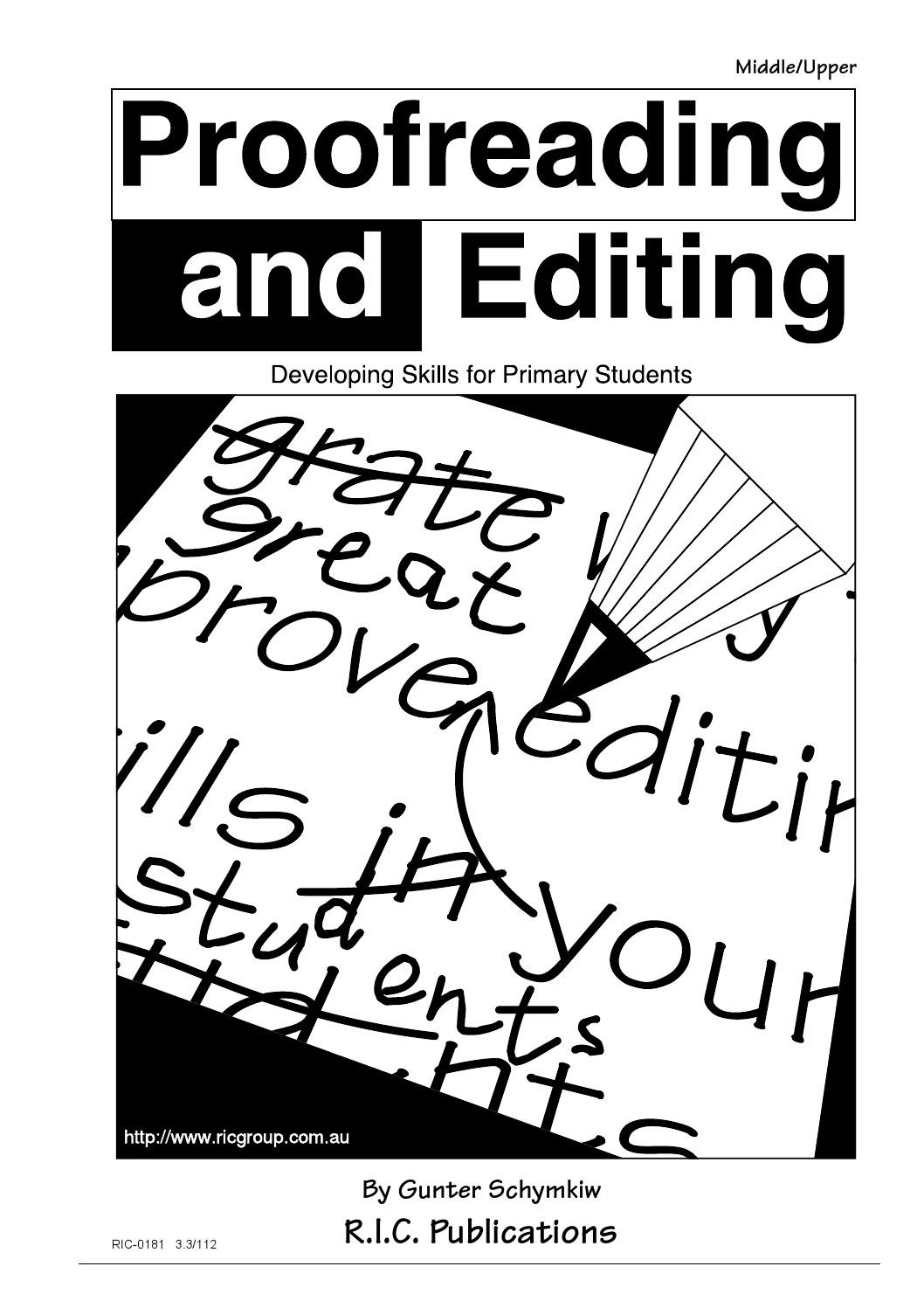 Editing Worksheet Middle School Proofreading and Editing Ages 9 12 by Teacher Superstore