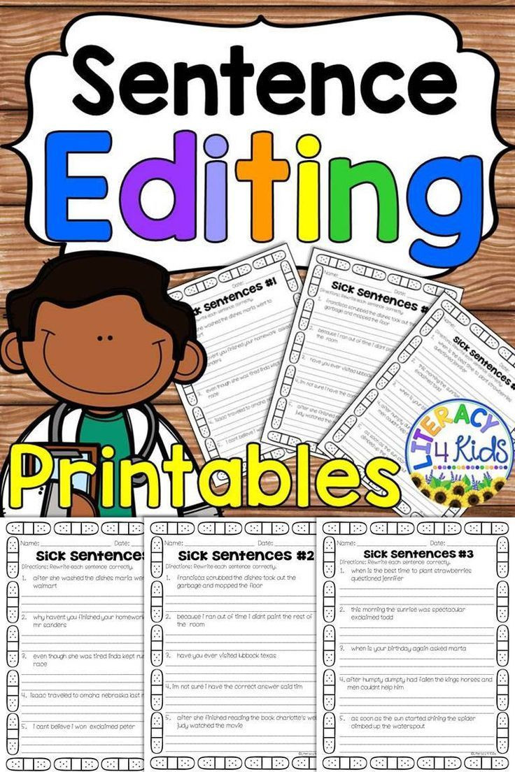 Editing Worksheet Middle School Sentence Editing Worksheets