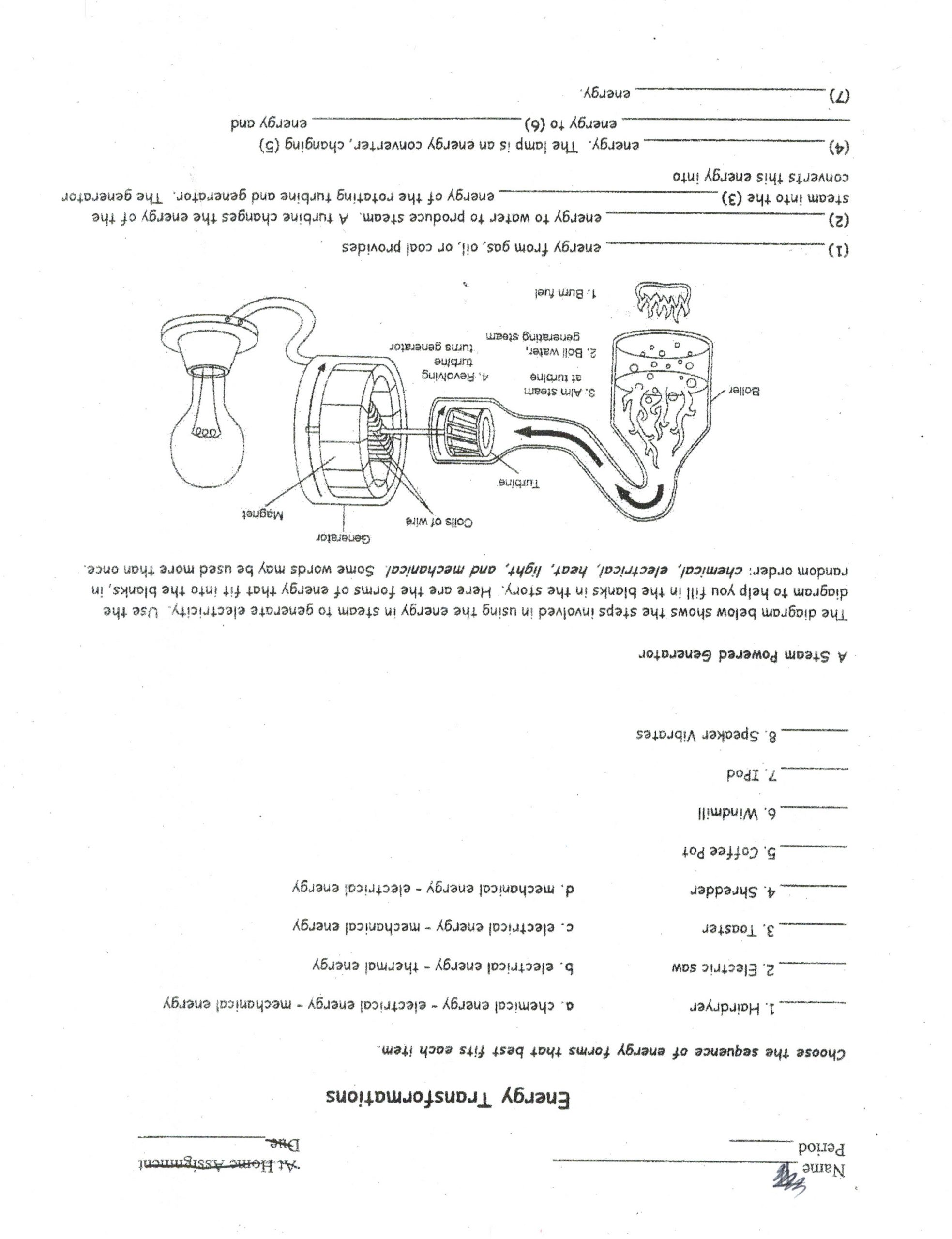 Energy Worksheets for 3rd Grade Worksheet Energy for Grade 2